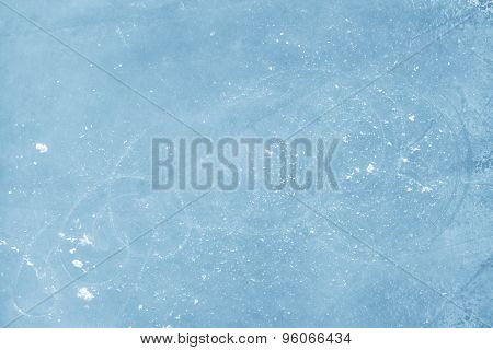 Surface Of An Ice Rink Replete With Skate Marks