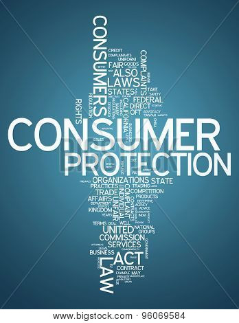 Word Cloud with Consumer Protection related tags poster