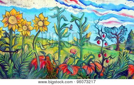 Mural nature in Duncan