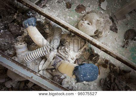 Chernobyl - Doll Placed Under Metal Beams