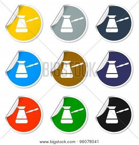 The turk icon. Coffee symbol. Flat design style eps 10 poster