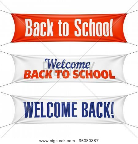 Welcome Back to School banners. Vector.
