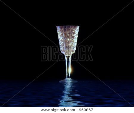 Wine Glass In The Water