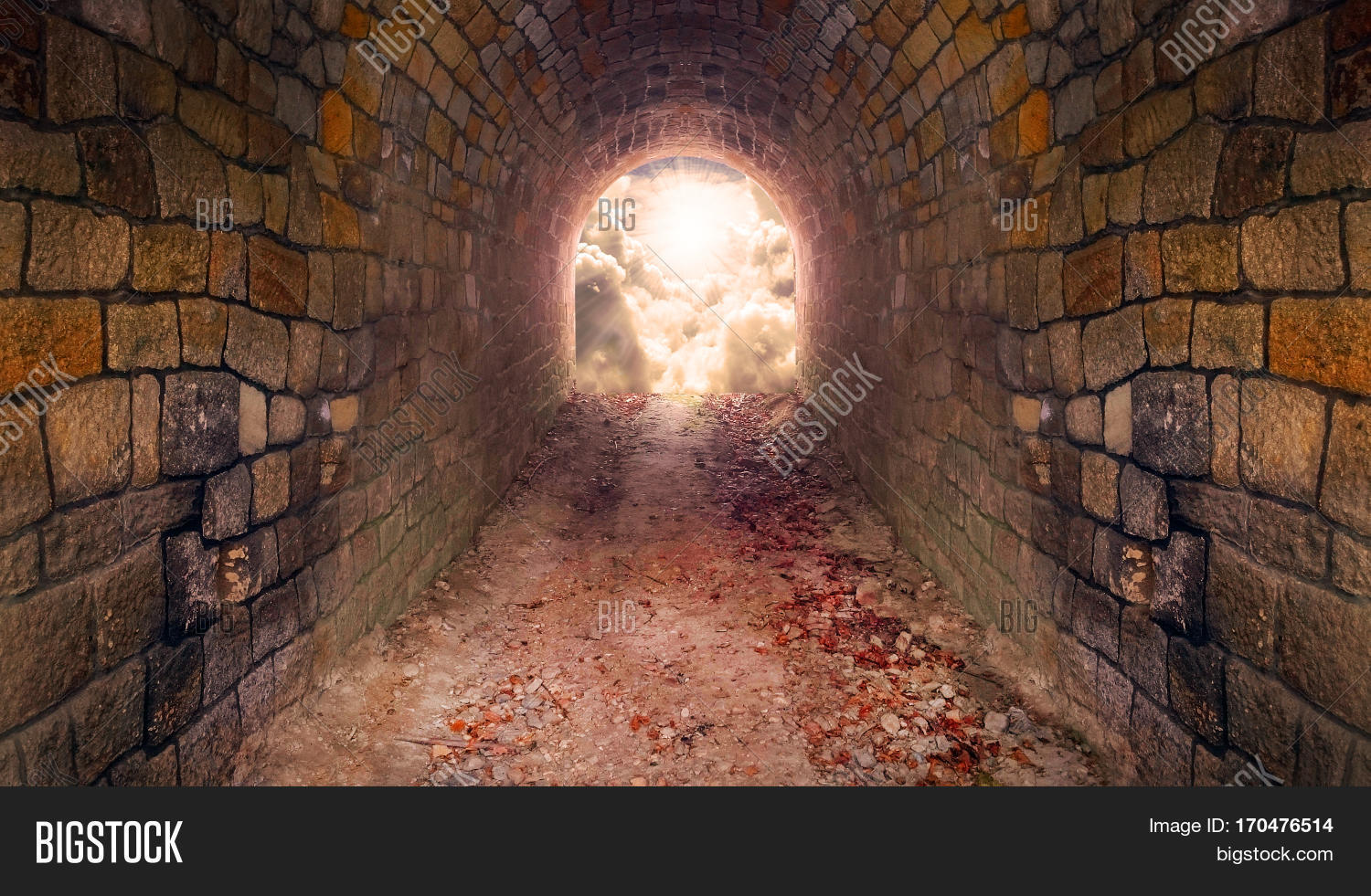 Light at end of the tunnel. Way to freedom or to heaven. Opened door & Light End Tunnel. Way Image \u0026 Photo (Free Trial) | Bigstock