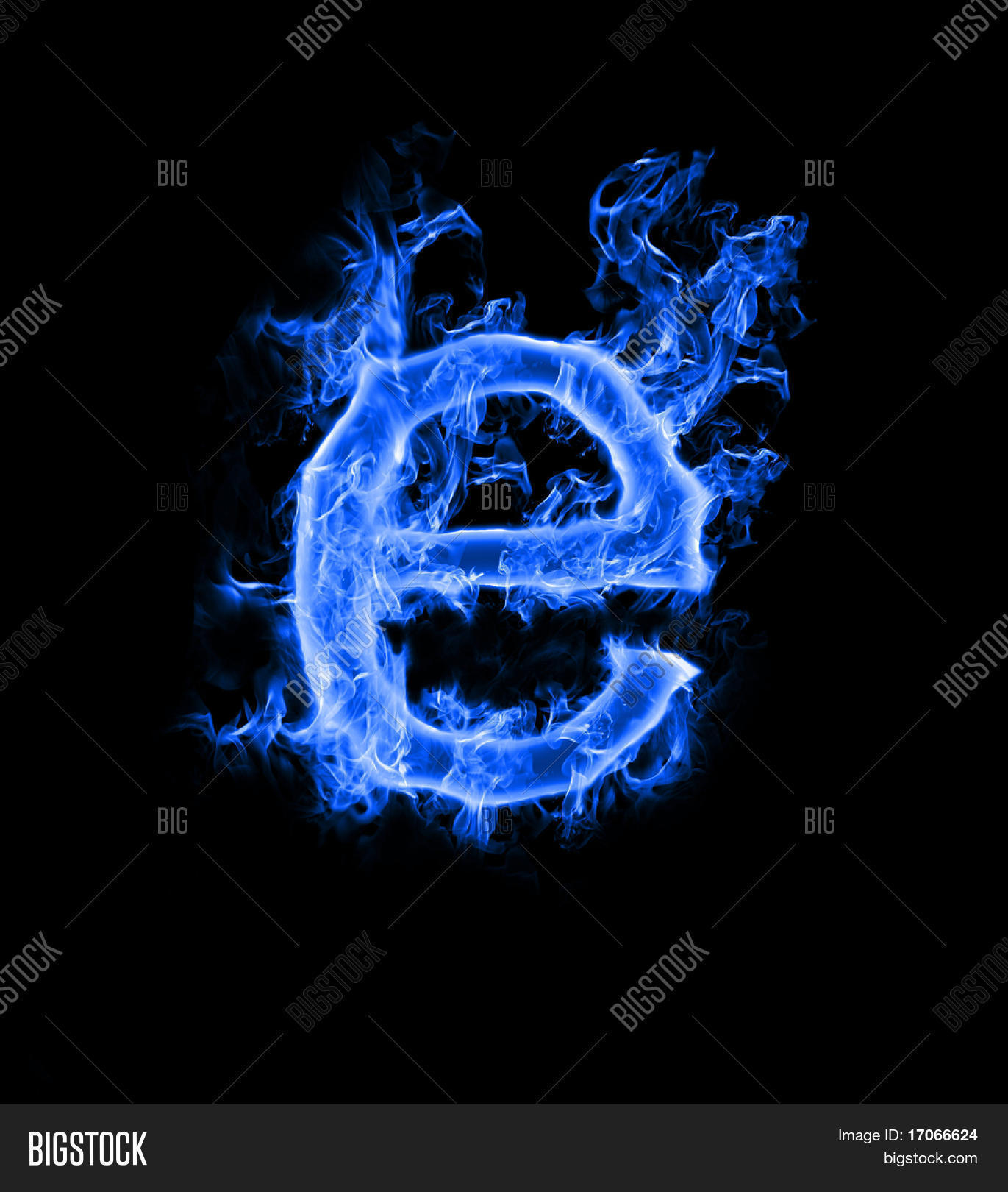 Blue Smoke Letter E