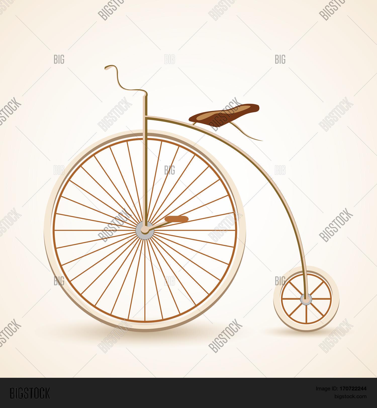 Vintage Retro Bicycle Vector & Photo (Free Trial) | Bigstock