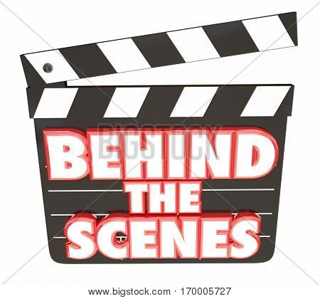 Behind the Scenes Movie Film Clapper Board 3d Illustration