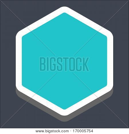 Web internet hexagon button in 3D flat style. Hover variant. Quick and easy recolorable shape. Vector illustration a graphic element