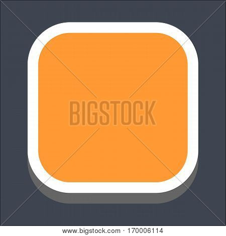 Web internet square button in 3D flat style. Hover variant. Quick and easy recolorable shape. Vector illustration a graphic element