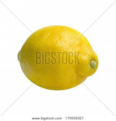 Isolated lemon. Yellow lemon. Lemons. Yellow Fruits.  Healthy Food. Citrus fruits. Fruits with a high vitamin C content.Close-up of Oranges