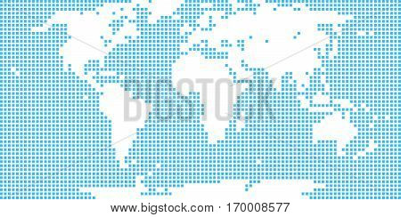 Use it in all your designs. World map atlas in flat dotted style in square shapes. Quick and easy recolorable shape. Vector illustration a graphic element