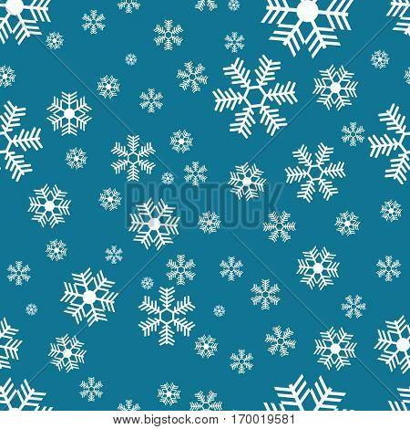 snowflake pattern on blue cartoon