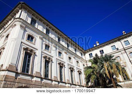 Architectural detail on Isola Bella, Lago Maggiore, Italy, Europe