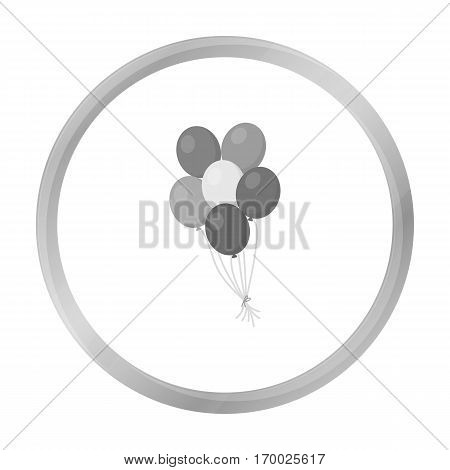 Balloon icon monochrome. Single gay icon from the big minority, homosexual monochrome.