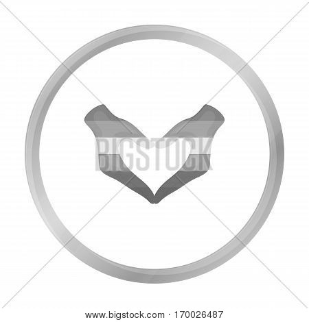 Hands icon monochrome. Single gay icon from the big minority, homosexual monochrome stock vector