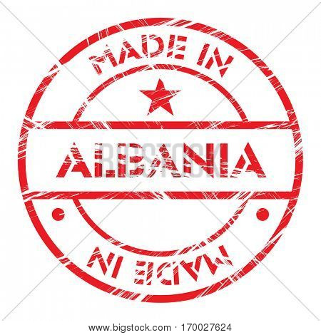 Made in Albania grunge rubber stamp