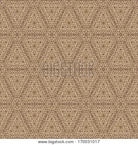 Sandy Brown Doormat Seamless Pattern