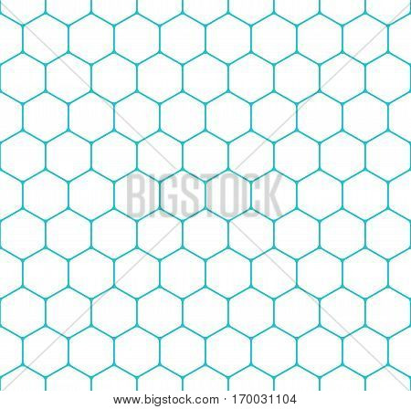 Seamless pattern with honeycomb shapes. Hexagon texture background. Quick and easy re-colorable shape. Vector illustration a graphic element