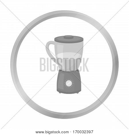 Blender icon in monochrome style isolated on white background. Household appliance symbol vector illustration.