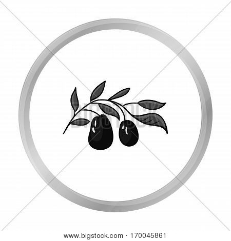 Italian olives from Italy icon in monochrome style isolated on white background. Italy country symbol vector illustration.