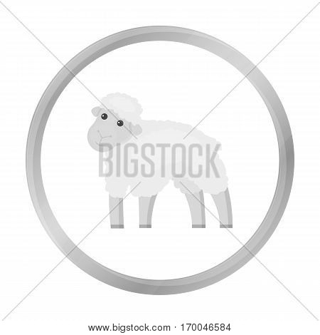 Sheep icon monochrome. Single bio, eco, organic product icon from the big milk monochrome.