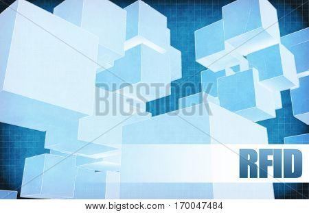 Rfid on Futuristic Abstract for Presentation Slide 3D Illustration Render