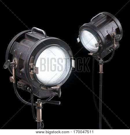 Vintage 3D Theater Spotlight Or Movie Studio Light