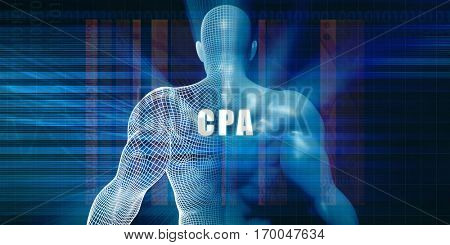 Cpa as a Futuristic Concept Abstract Background 3D Illustration Render
