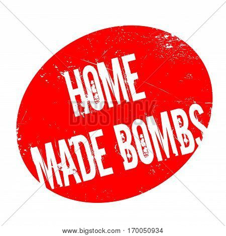Home Made Bombs rubber stamp. Grunge design with dust scratches. Effects can be easily removed for a clean, crisp look. Color is easily changed.