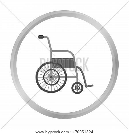 Wheelchair icon monochrome. Single medicine icon from the big medical, healthcare monochrome.