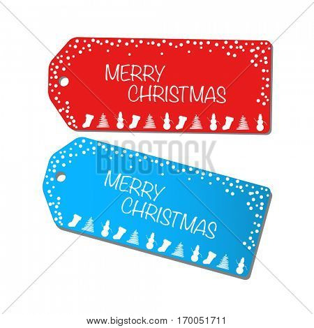 Christmas sale tags illustration on a white background