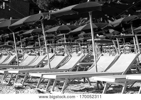 Sun Beds on Beach