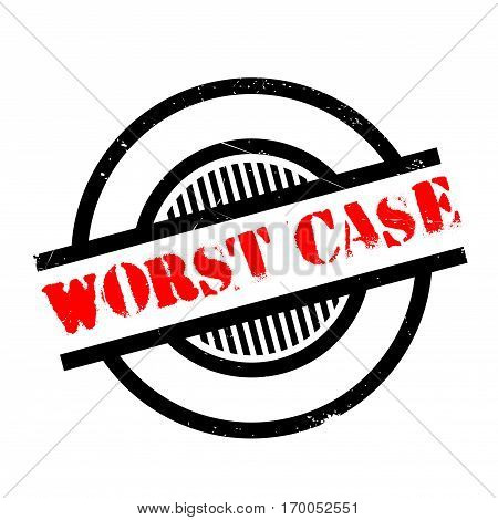 Worst Case rubber stamp. Grunge design with dust scratches. Effects can be easily removed for a clean, crisp look. Color is easily changed.