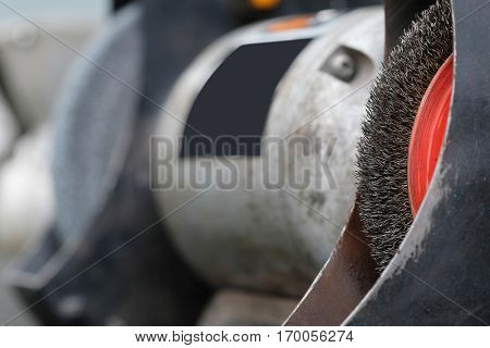 The image of grinder close up