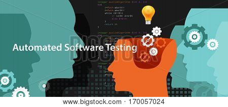 automated software testing script to fiind bug by programmer vector
