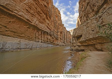 In the Santa Elena Desert Canyon in Big Bend National Park in Texas