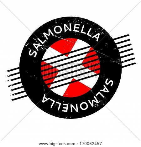 Salmonella rubber stamp. Grunge design with dust scratches. Effects can be easily removed for a clean, crisp look. Color is easily changed.