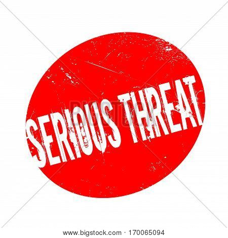Serious Threat rubber stamp. Grunge design with dust scratches. Effects can be easily removed for a clean, crisp look. Color is easily changed.