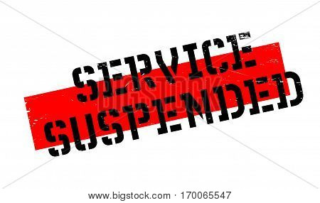 Service Suspended rubber stamp. Grunge design with dust scratches. Effects can be easily removed for a clean, crisp look. Color is easily changed.