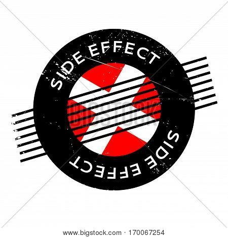 Side Effect rubber stamp. Grunge design with dust scratches. Effects can be easily removed for a clean, crisp look. Color is easily changed.