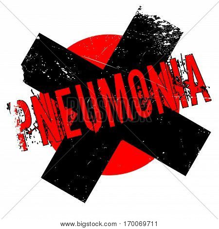 Pneumonia rubber stamp. Grunge design with dust scratches. Effects can be easily removed for a clean, crisp look. Color is easily changed.