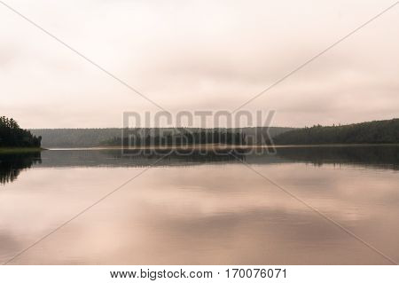 Island on big river. Eastern Siberia, Russia