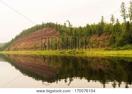 River of Eastern Siberia. Right tributary of the Yenisei. Krasnoyarsk Territory.