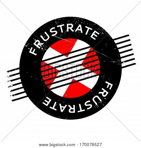 Frustrate rubber stamp. Grunge design with dust scratches. Effects can be easily removed for a clean, crisp look. Color is easily changed.