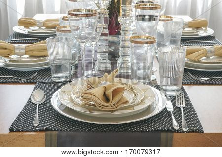 Elegance style dining table in dining room