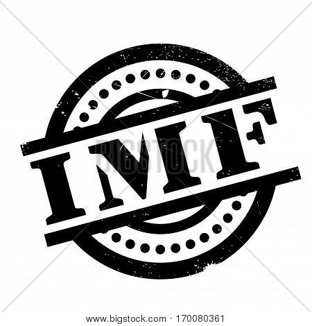 Imf rubber stamp. Grunge design with dust scratches. Effects can be easily removed for a clean, crisp look. Color is easily changed.