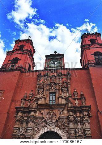 Templo La Valenciana ubicado en Guanajuato, México