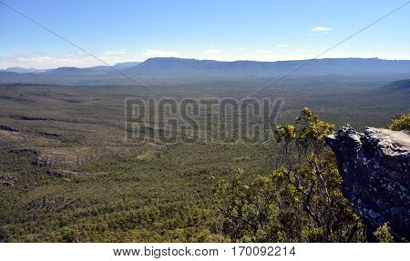Spectacular mountain scenery at sunset in the Grampians National Park Victoria Australia