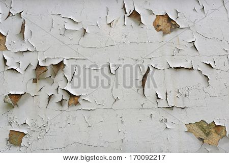 Chipped Paint Peeling Off House Wall Background