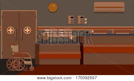 School Big Collection in flat design concept. Furniture and People Set Interior Elements